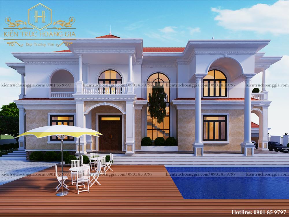 3 mẫu biêt thự sân vườn 2 tầng đẹp tại Phước Long Bình Phước hoàn thành năm 2020