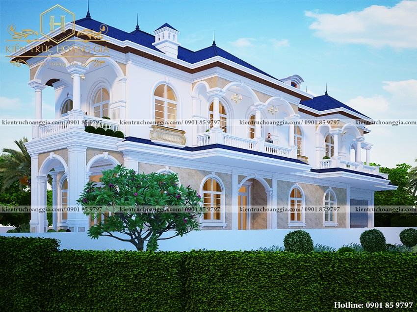 Mẫu biệt thự tân cổ điển đẹp cuốn hút tại Bình Phước