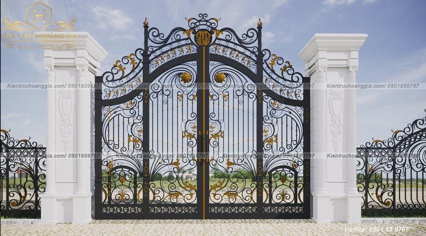 Một số mẫu thiết kế cổng nhà đẹp toát lên vẻ cổ kính và sang trọng.