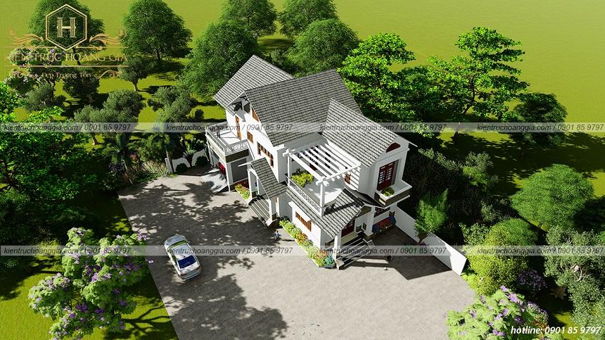 Top 5 mẫu nhà 2 tầng đẹp ở nông thôn gần gũi thiên nhiên.