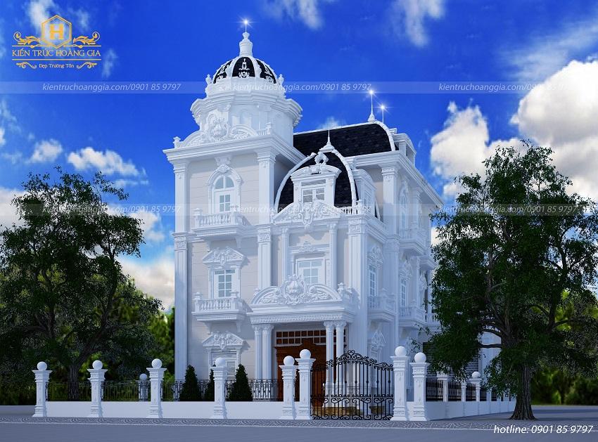 4 mẫu nhà 3 tầng đẹp kiến trúc cổ điển và tân cổ điển