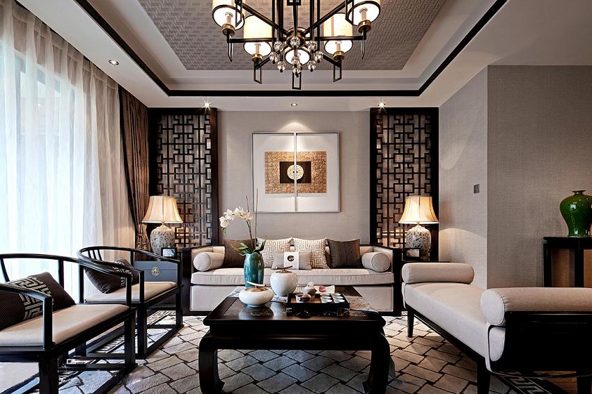 Phòng khách Á Đông nét đẹp gần gũi và thanh lịch cho không gian nội thất