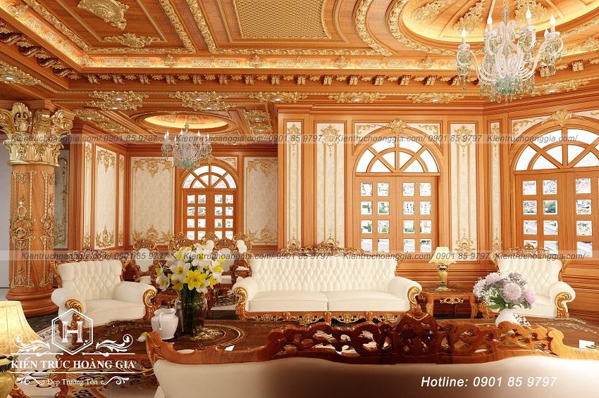 Phòng khách cổ điển đẹp sang trọng, xu hướng được các nhà đầu tư đẳng cấp lựa chọn