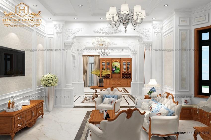 Thiết kế phòng khách tân cổ điển, xu hướng thịnh hành không lỗi thời
