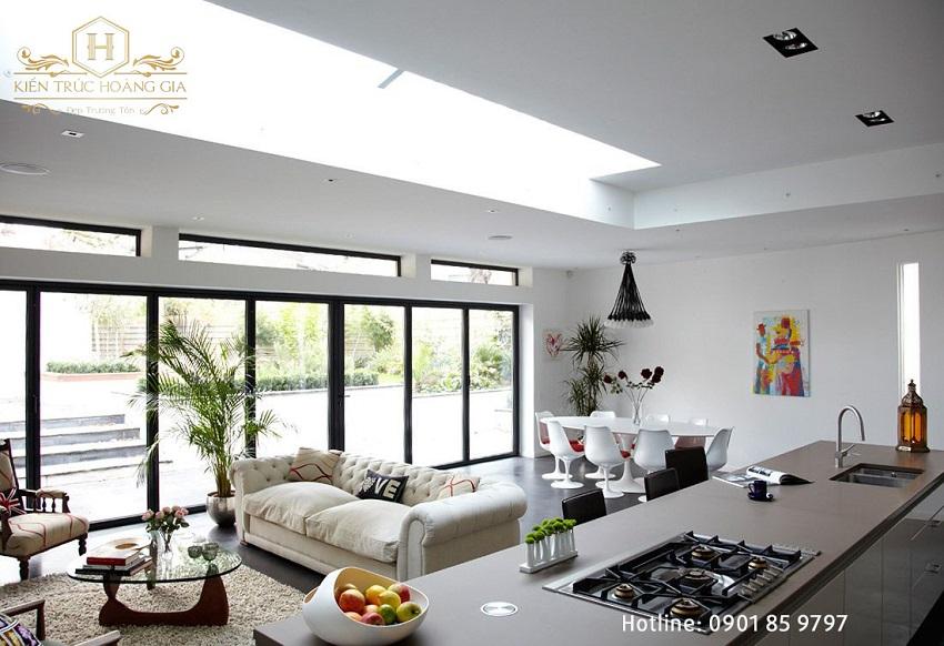 Thiết kế nhà không gian mở xu hướng của kiến trúc hiện đại