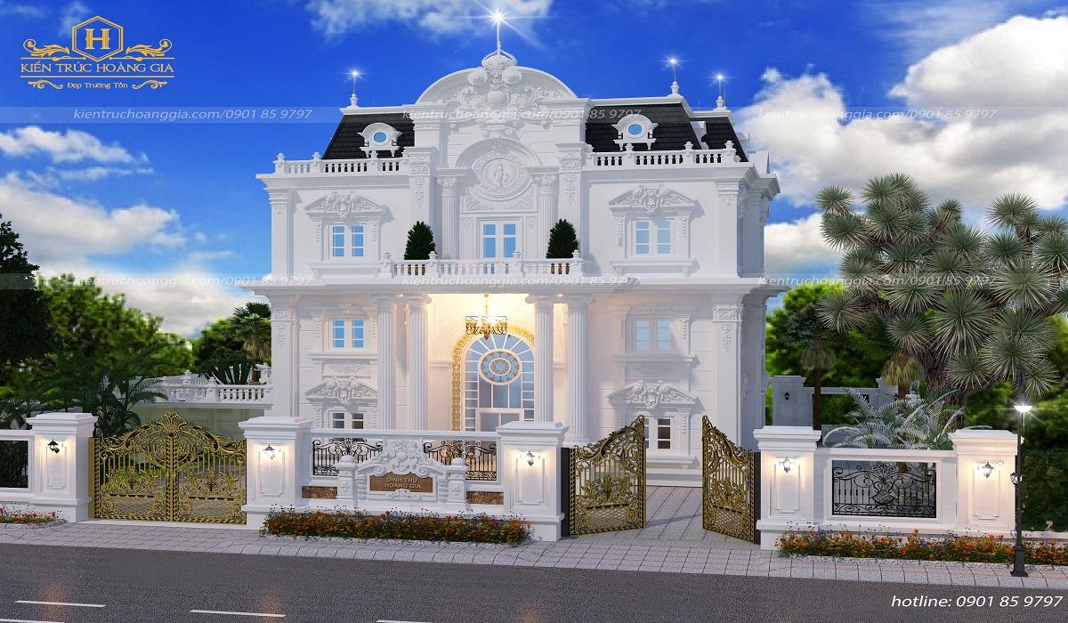 Dinh thự 2 tầng kiểu Pháp anh Hưng Bà Rịa Vũng Tàu