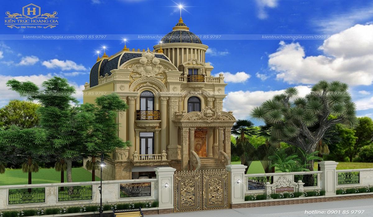 Biệt thự cổ điển châu Âu anh Dũng tại Bình Dương
