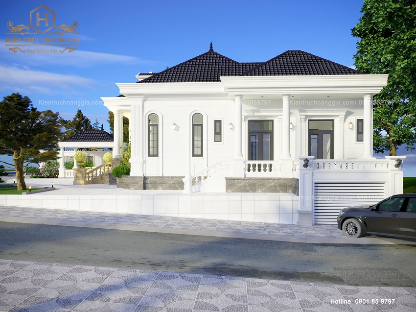 Biệt thự trệt mái ngói Thái anh Trung