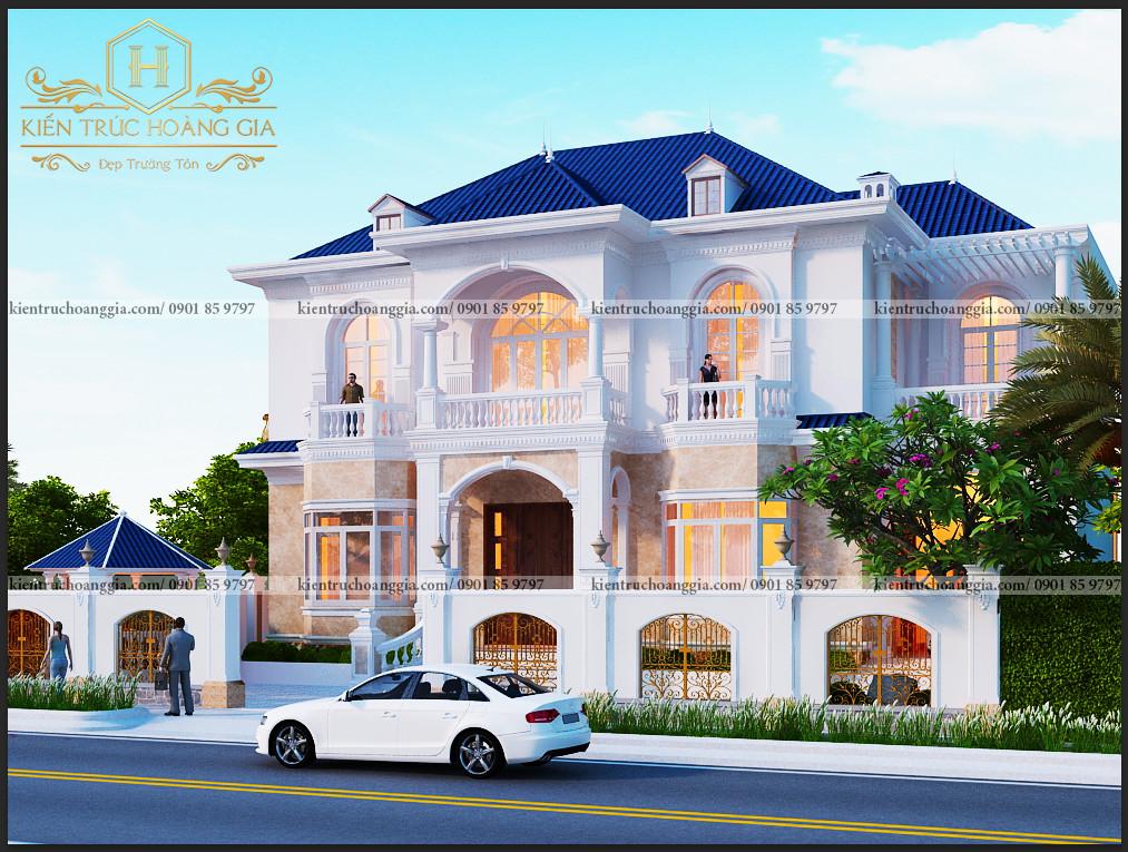 Thiết kế Biệt Thự 2 tầng mái ngói anh Tú Tiền Giang