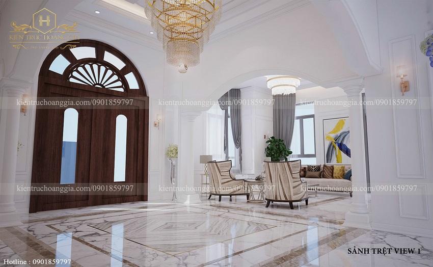 Nội thất tân cổ điển của biệt thự 2 tầng tại Bình Phước