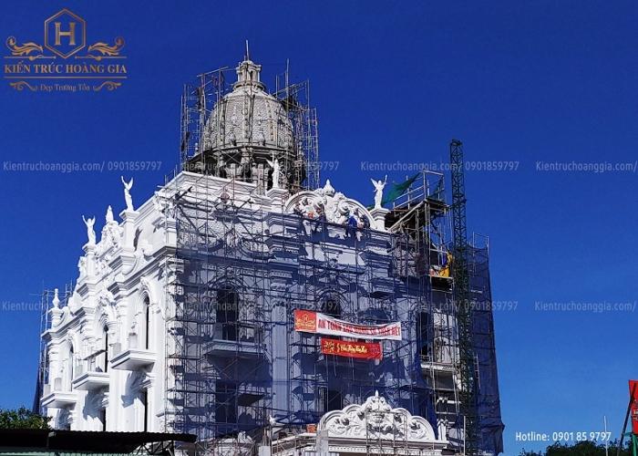 Nhật ký thi công dinh thự 4 tầng Phú Hương Bình Phước